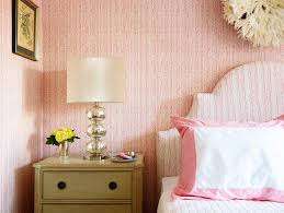 pink girls room with green nightstand transitional bedroom