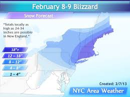 feb 7 2013 blizzard expected tomorrow night nyc area weather