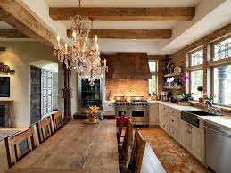 architecture view of rustic victorian kitchen with crystal