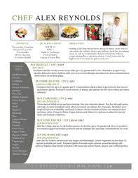 Chef Sample Resume by Chef Resumes Cv Samples U2014 Super Yacht Resume