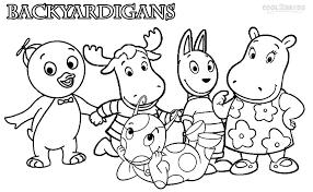 printable backyardigans coloring pages kids cool bkids gekimoe