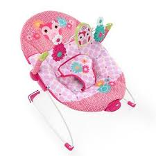 baby bouncer pink cradling vibrating seat portable infant