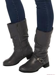 wide biker boots women u0027s shoes outlet evans extra wide fit black stud biker boots