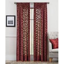 Brown Floral Curtains Better Homes And Gardens Floral Velvet Sheer Curtain Panel
