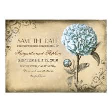 rustic save the date cards vintage rustic save the date card with blue peony superdazzle