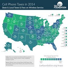 Washington State Map Cities by Infographic Map Cell Phone Taxes By State U2014 My Money Blog