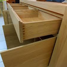 Schlafzimmer Schrank Kirschbaum Massiv Anrichte Sideboard Eiche Massiv Modern Grifflos Eiche