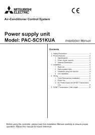 pac sc51kua installation manual wt05372x04 mitsubishi electric
