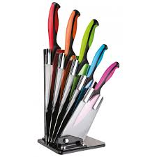 taylor u0027s eye witness 5 piece dexterity coloured knife block