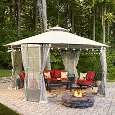 Outdoor String Lights Lowes Gazebo Lowes With White Curtains And String Lights Fixtures Plus