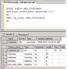 alter table not null table changes not automatically reflected in a sql server view