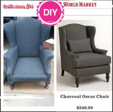 grey wingback reupholster fabric spray paint