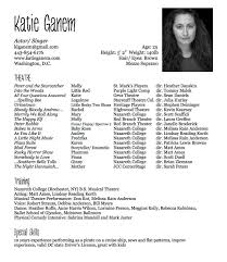 Musical Theater Resume Headshot And Resume Free Resume Example And Writing Download