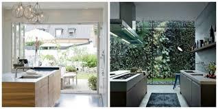 cuisine avec porte fenetre aménagemez une cuisine ouverte sur l extérieur ideeco