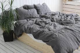 100 Linen Duvet Cover Organic Duvet Cover Dark Gray Natural 100 Linen Duvet Cover