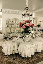 dining room chair slipcovers shabby chic dining room ideas