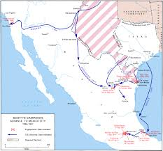 Mexican State Map by The Occupation Of Mexico May 1846 July 1848