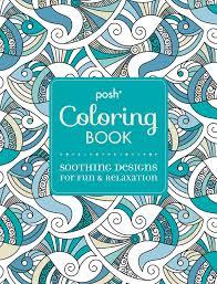 amazon posh coloring book soothing designs fun
