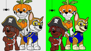 halloween paw patrol coloring pages for kids paw patrol