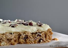 Oatmeal Bars With Chocolate Topping Frosted Cranberry White Chocolate Cookie Bars