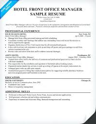 sample hotel manager resume hotel front office manager resume