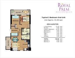 Apartment Floor Plan Philippines Royal Palm Residences Floor Plans