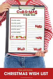 christmas wish list christmas wish list printable free printable included