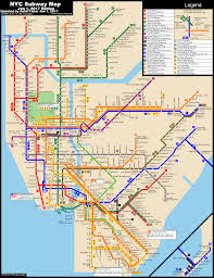 Printable Map Of New York City by Www Nycsubway Org New York City Subway Route Map By Michael Calcagno