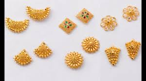 gold earring studs designs light weight gold ear stud designs with weight in 5grams