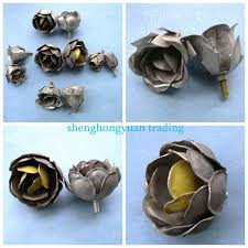 Flowers For Crafts - small metal rose flowers for crafts buy metal flowers for crafts