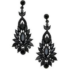 Chandelier Earrings Earrings Vintage Victorian Style Black Crystals Chandelier Earrings Dark