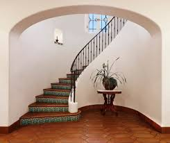 wrought iron staircase staircase mediterranean with spanish