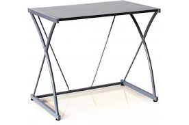 petit bureau en verre bureau verre gris bissy design sur sofactory