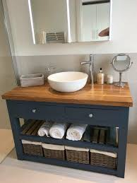 Solid Wood Bathroom Cabinet Solid Oak Vanity Unit Washstand Bathroom Furniture Bespoke Rustic