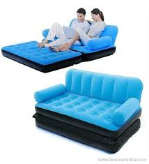 Inflatable Pull Out Sofa by Benison India Original Velvet Inflatable Sofa Large Pull Out Sofa