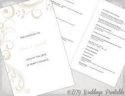 catholic wedding ceremony program catholic wedding program template chagne scroll macaroni and
