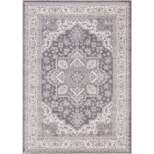 Concord Global Area Rugs Shop Concord Global Palermo Gray Indoor Area Rug Common