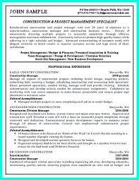 construction safety manager sample resume cvresume unicloud pl