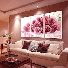 3 panel modern printed rose flower painting canvas cuadros flowers