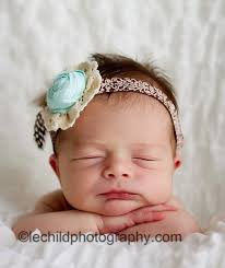 newborn headband mint baby flower headband girl flower headbands newborn