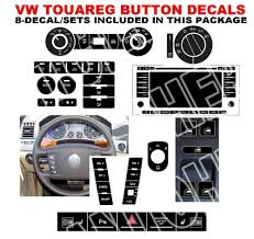 2004 2009 vw touareg button decals stickers radio with navigation