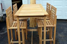 Patio Bar Height Table And Chairs Custom Made Bar Height Table And 4 Chairs Made For Outdoor Use By