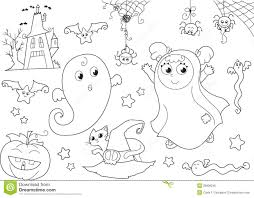 Creepy Halloween Coloring Pages by Halloween Coloring Page For Little Kids Royalty Free Stock Photo