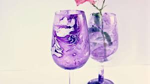 decorazioni bicchieri crea un fantastico bicchiere marmorizzato fai da te creazioni
