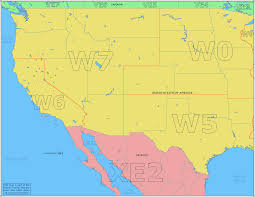 Guadalupe Mexico Map by Amateur Radio Prefix Map Of The Western Usa