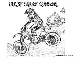 dirt bike rider coloringpage coloring pages book for boys bebo