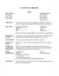 Internship On Resume Layout Of A Resume 12 Layout Resume Uxhandy Com
