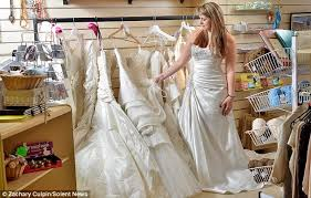 wedding dress donation anonymous bridal shop owner gives designer wedding dresses to