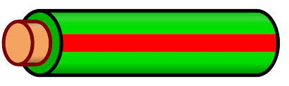 file wire green red stripe svg wikimedia commons