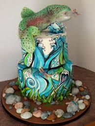 interior design amazing fishing themed cake decorations decor